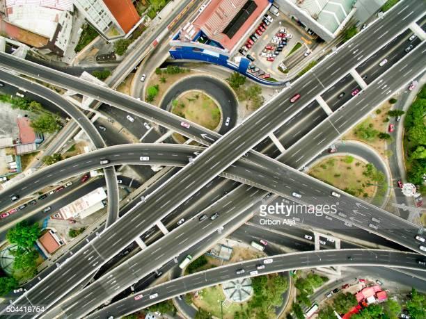 Luftbild von Mexiko-Stadt highways