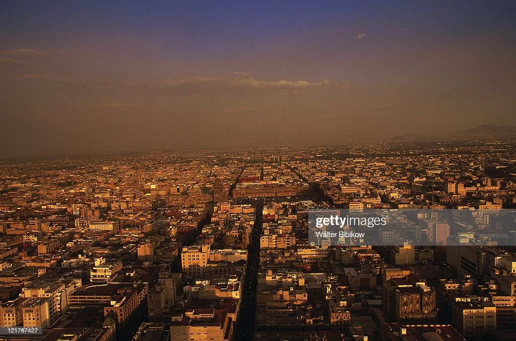 Aerial view of Mexico City, Mexico : Stock Photo