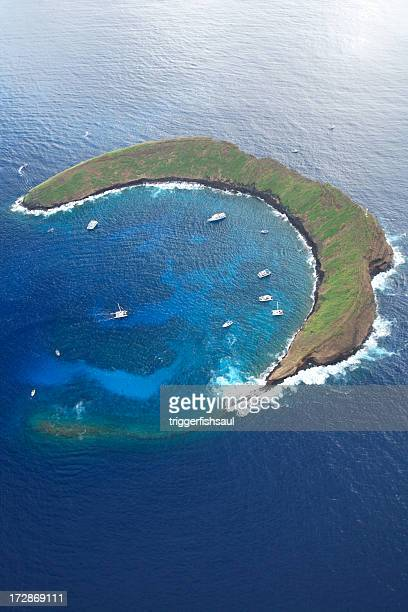 Aerial View of Molokini Crater