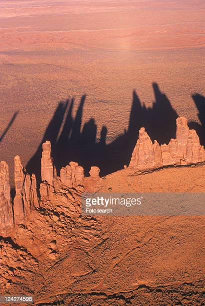 Aerial View of Monument Valley at Sunset