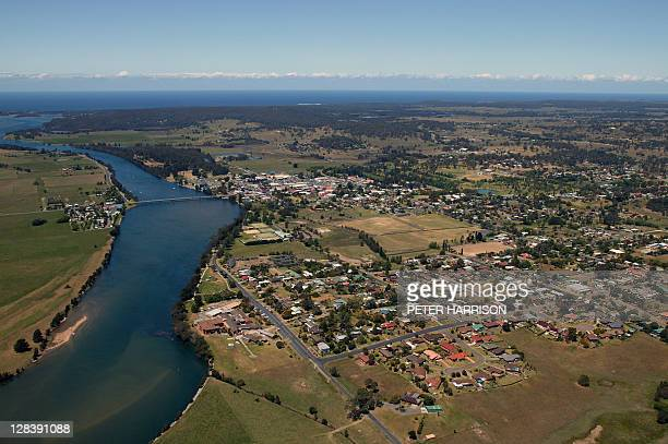 Aerial View of Moruya, NSW, Australia