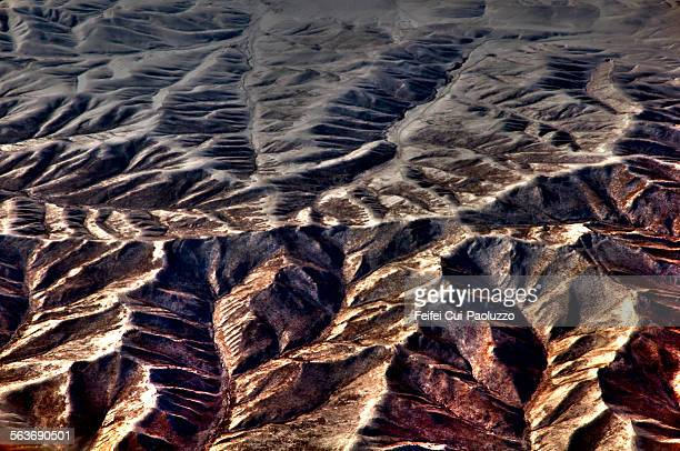 Aerial view of mountain range near Beijing China
