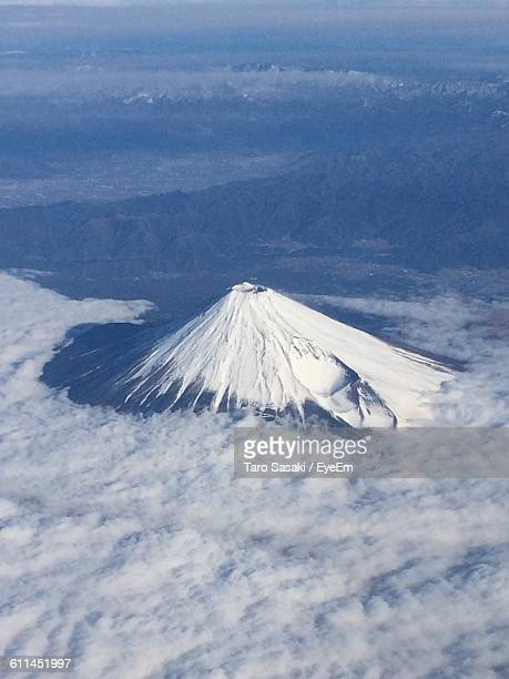 Aerial View Of Mt Fuji And Cloudscape