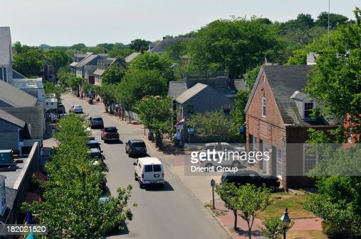 Aerial view of Nantucket : Stock Photo
