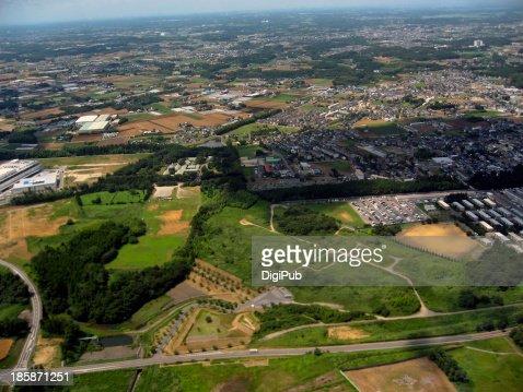 Aerial view of Narita