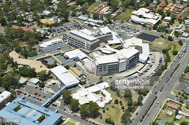 Aerial view of Nepean Hospital, Sydney, NSW, Australia