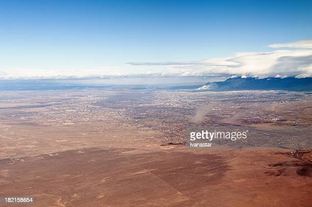 Aerial View of New Mexico Rio Grande Valley