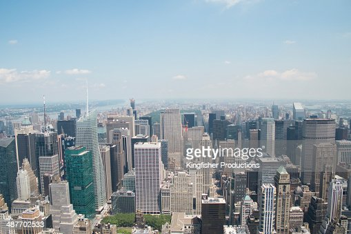 Aerial view of New York cityscape, New York, New York, United States