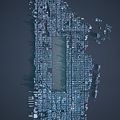 Aerial view of New York Manhattan island