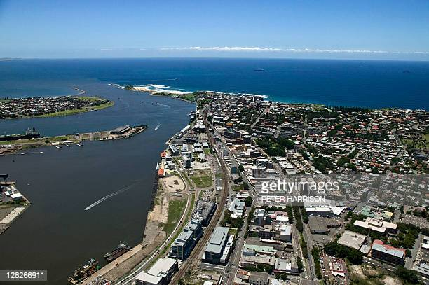 Aerial view of Newcastle, New South Wales, Australia