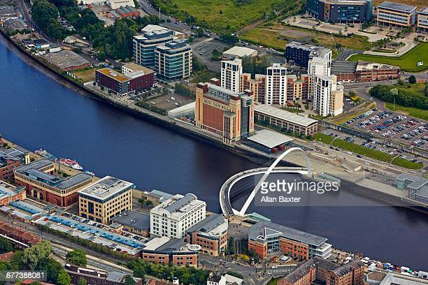 Aerial view of Newcastle quayside and Tyne
