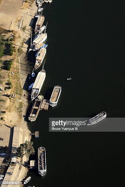 Aerial view of Nile River