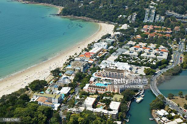 Aerial view of Noosa, Queensland, Australia