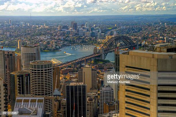 Aerial view of North Sydney and Lavender Bay
