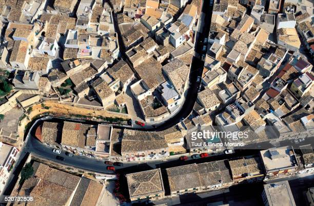 Aerial view of Noto in Sicily, Italy