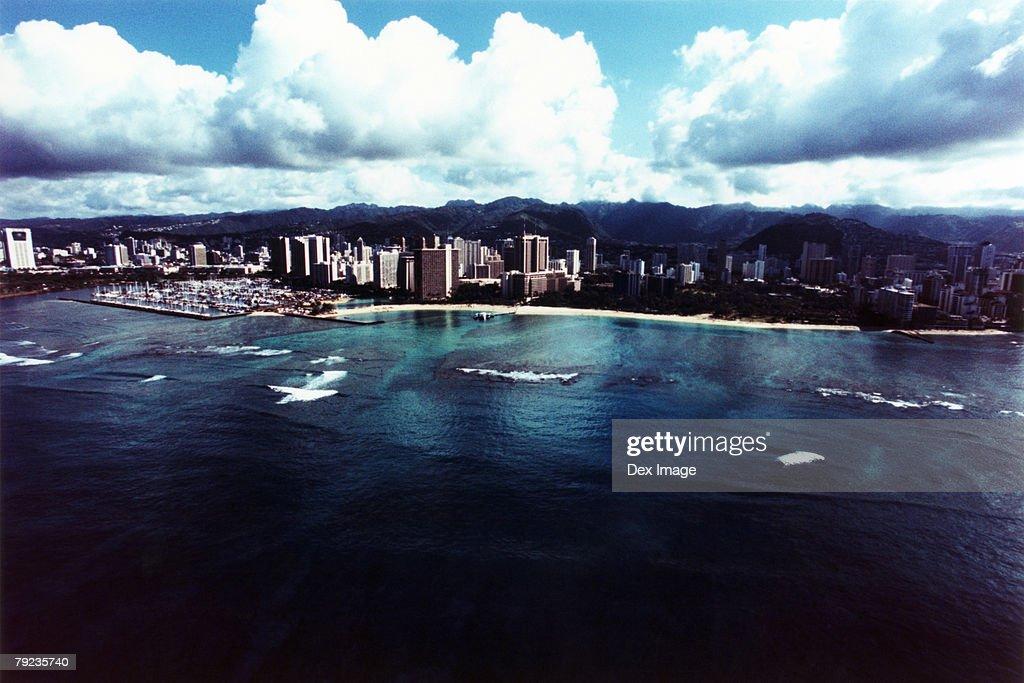 Aerial view of Oahu, Hawaii : Stock Photo