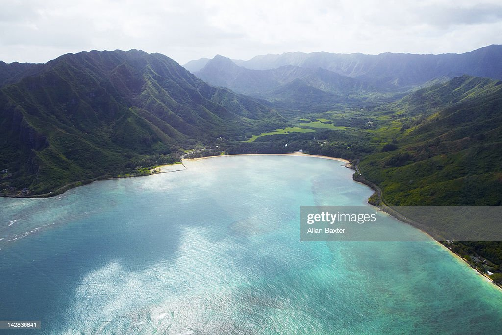 Aerial view of Oahu