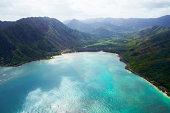Aerial view of Oahu