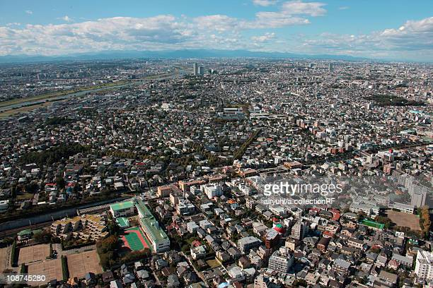 Aerial view of Ohta ward, Tokyo Prefecture, Honshu, Japan