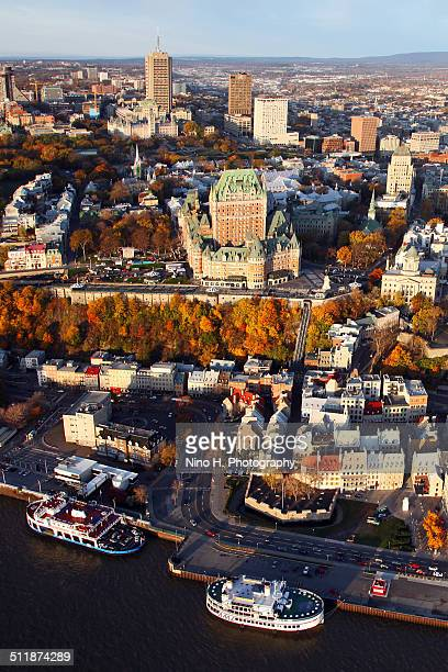 Aerial view of Old Quebec