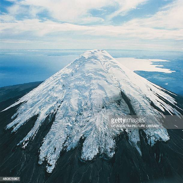 Aerial view of Osorno Volcano Andes Chile