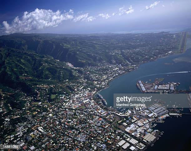 Aerial view of Papeete.