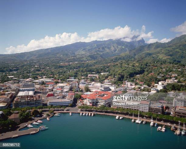 Aerial View of Papeete Waterfront