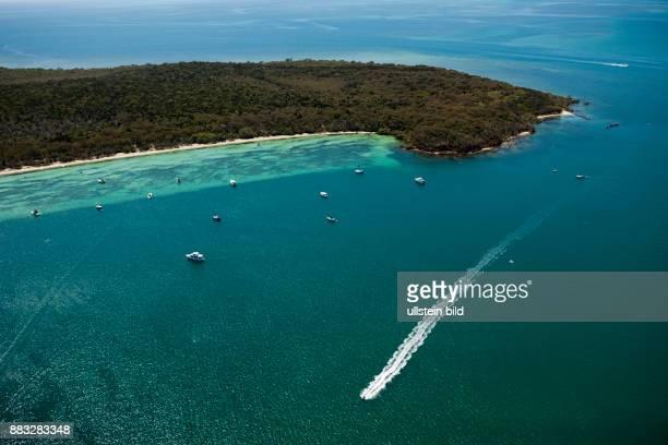 Aerial View of Peel Island Moreton Bay Brisbane Australia