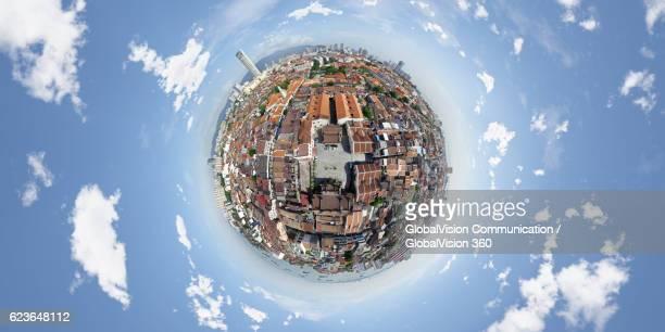 360° Aerial View of Penang Island, Malaysia