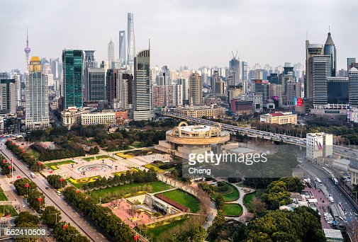 Aerial View of People's Square,shanghai,china