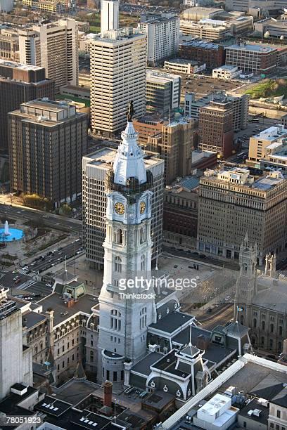 Aerial view of Philadelphia City Hall, Philadelphia, Pennsylvania