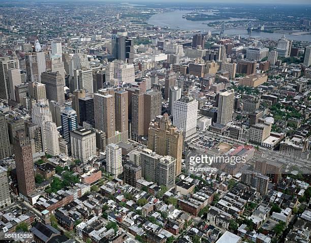 Aerial view of Philadelphia Pennsylvania
