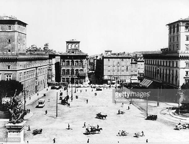 Aerial view of Piazza Venezia in Rome Rome 1925