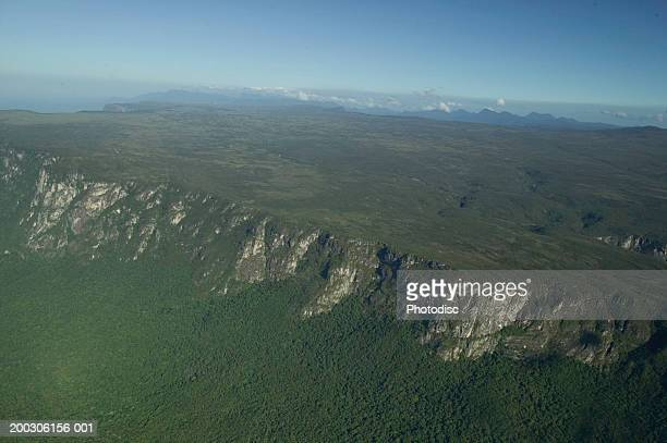 Aerial view of plateau