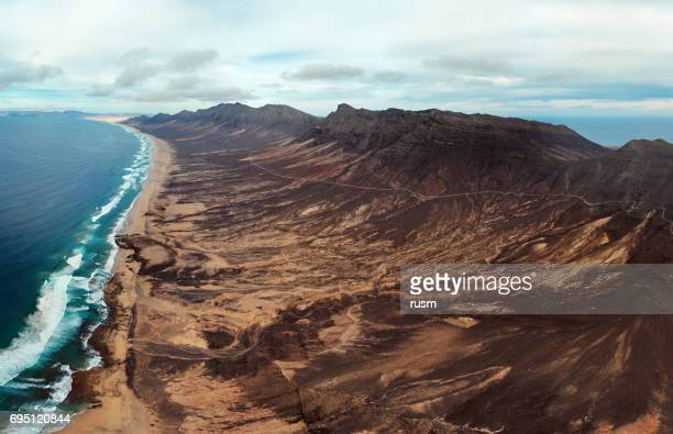 Aerial view of Playa de Barlovento beach, Fuerteventura, Canary Islands
