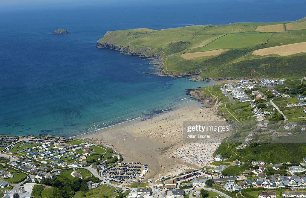Aerial view of Polzeath
