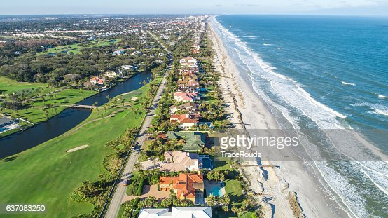 Aerial View of Ponte Vedra Beach, Jacksonville : Stock Photo