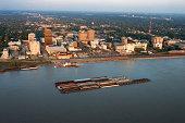 Aerial view of Port Allen, Baton Rouge, Louisiana