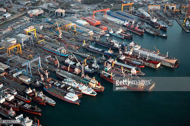 Aerial View of Port with chips
