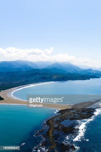 Aerial view of Punta Uvita in Marino Ballena National Park : Stock Photo