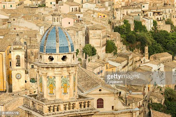 Aerial view of Ragusa Ibla, Sicily, Italy