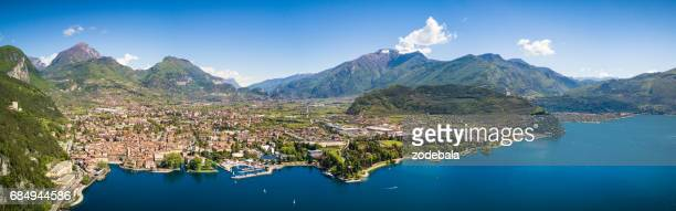 Aerial View of Riva del Garda, Lake of Garda, Italy