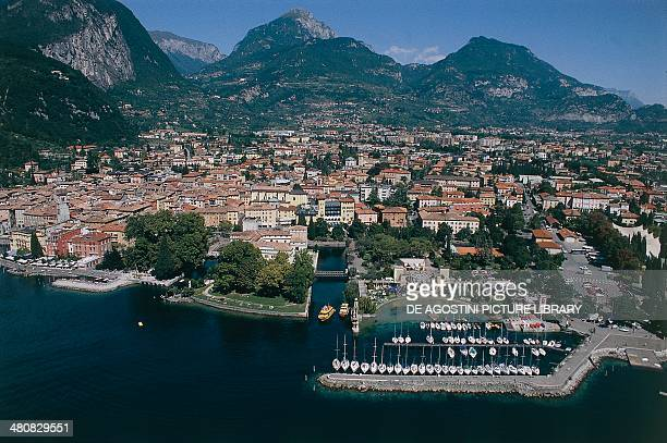 Aerial view of Riva del Garda Province of Trento TrentinoAlto Adige Region Italy