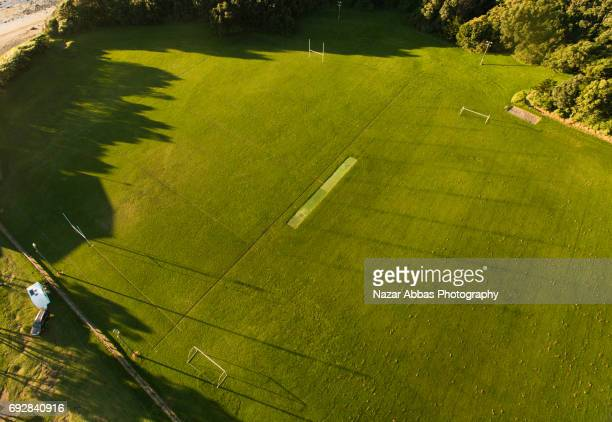 Aerial View Of Rugby Ground.