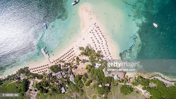 Aerial view of Saint Martin Beach
