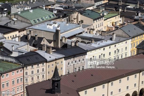 Aerial view of Salzburg Austria