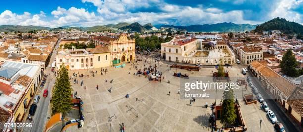 Aerial view of San Cristobal de las Casas Chiapas Mexico