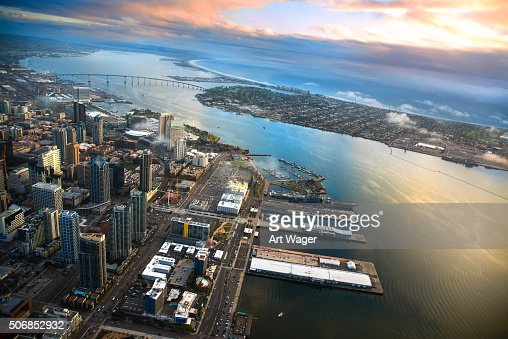 Aerial View of San Diego and Coronado