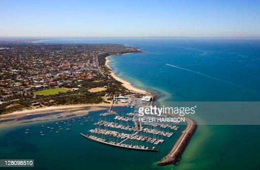 Sandringham Australia  city photos : Aerial View Of Sandringham Melbourne Victoria Australia Stock Photo ...