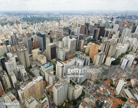 Aerial View of Sao Paulo